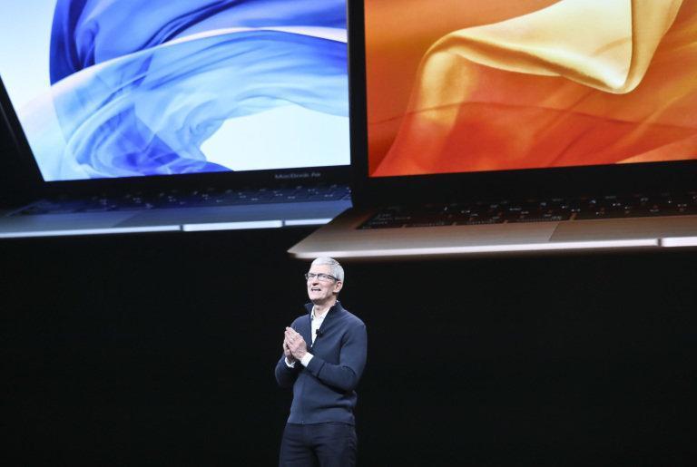 رونمایی از لپ تاپ جدید مک بوک ایر 2018 اپل ، عکس