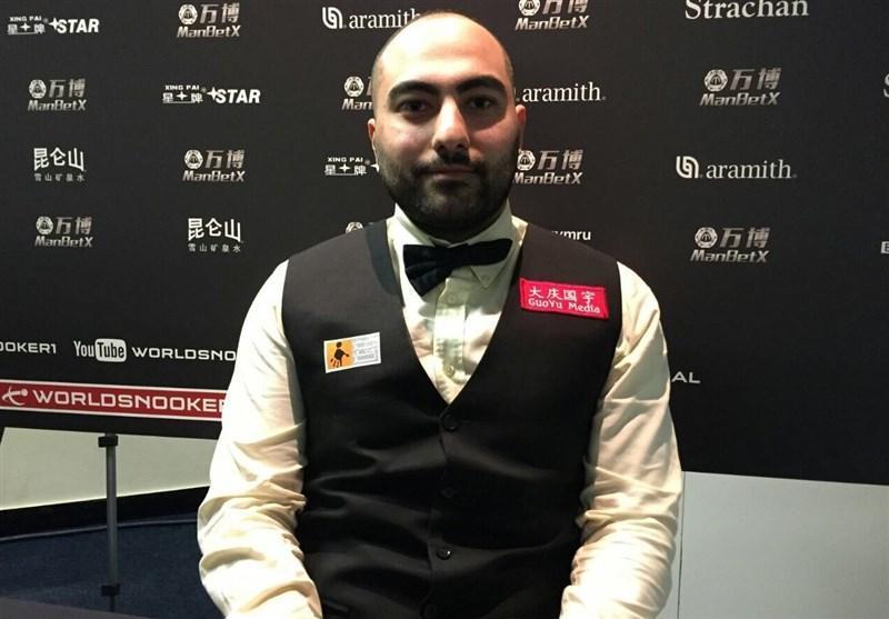 حسین وفایی در بین 16 بازیکن برتر حرفه ای های اسنوکر دنیا