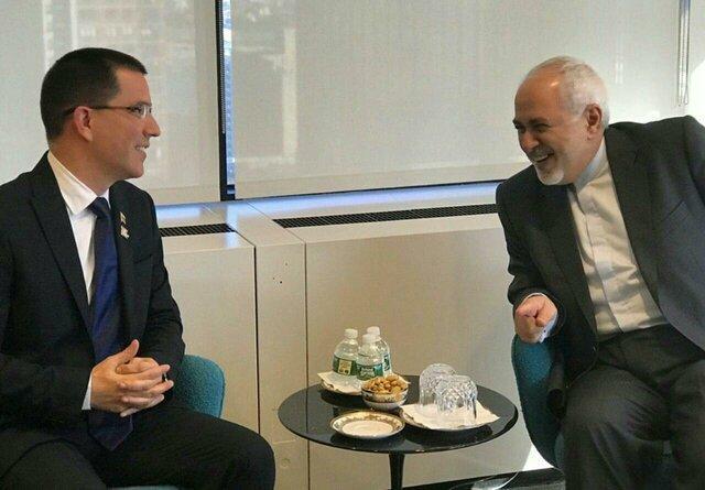 رایزنی ظریف با وزیر امور خارجه ونزوئلا درباره آخرین تحولات این کشور