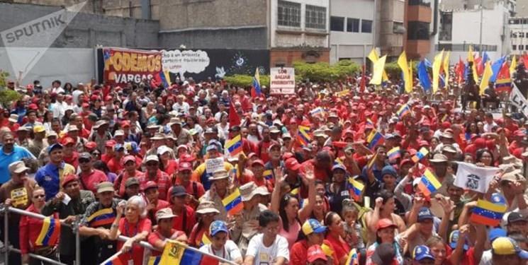 عکس، هزاران نفر از مردم ونزوئلا علیه آمریکا تظاهرات کردند