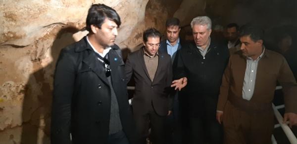 دکتر مونسان وارد شهر کرمانشاه شد، بازدید از موزه مردم شناسی پاوه و غار قوری قلعه