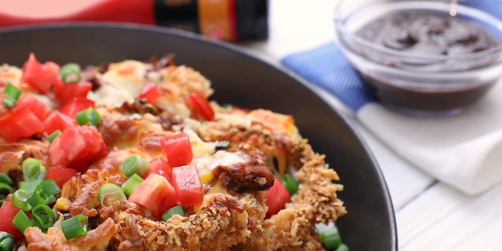 طرز تهیه پیاز سوخاری با مرغ باربیکیو