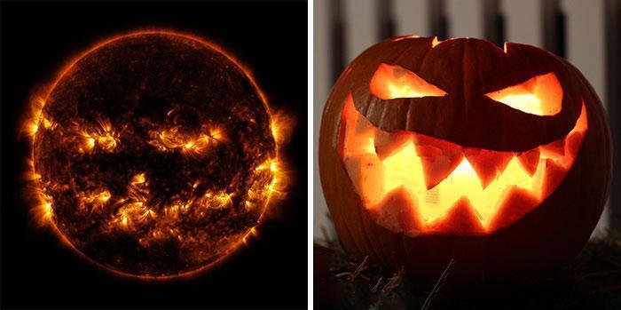حتی خورشید هم هالووین را جشن می گیرد!