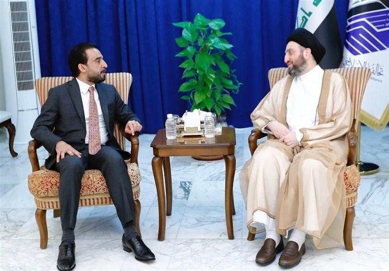 عراق، ملاقات حکیم با حلبوسی؛ تاکید بر گذار از بحران با نقشه راه مرجعیت