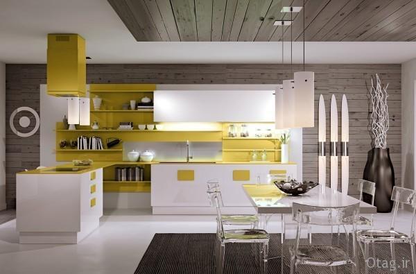 دکوراسیون آشپزخانه مدرن و ساده ایتالیایی ، عکس