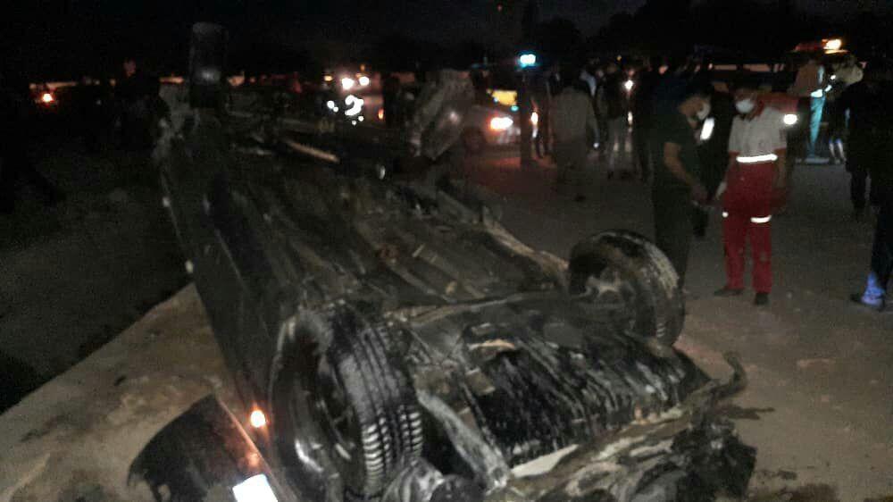 خبرنگاران تصادف در محور شهر مجلسی اصفهان- بروجن 3 کشته برجاگذاشت