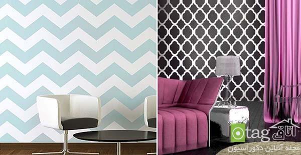 زیباترین طرح های شابلون مناسب تزیین دیوارهای خانه