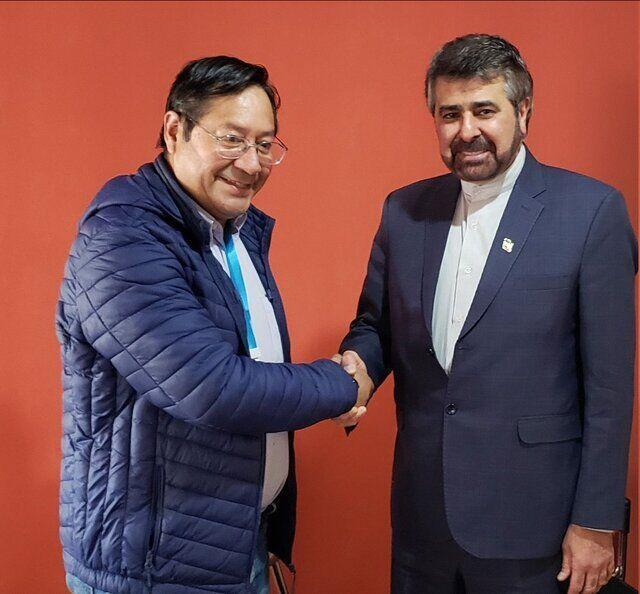 خبرنگاران تاکید برتوسعه همکاریهای دوجانبه تهران و لاپاز در دیدارسفیر ایران و رئیس جمهور بولیوی