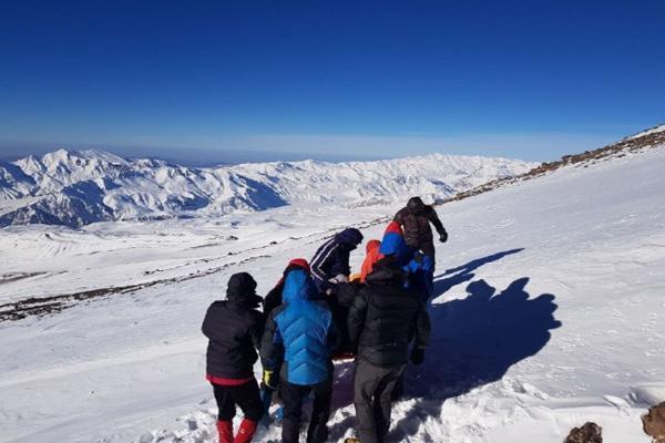 سقوط 500 متری یک کوهنورد در دماوند (عکس)