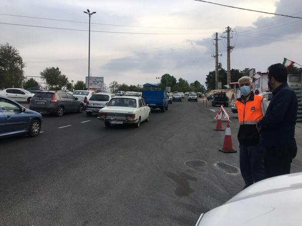 خبرنگاران ترافیک در مسیرهای ورودی تهران نیمه سنگین تا سنگین است