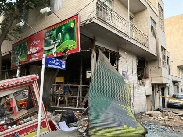 انفجار و تخریب 5 مغازه و منزل مسکونی در قزوین