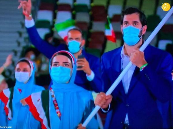 رژه کاروان ایران در المپیک 2020